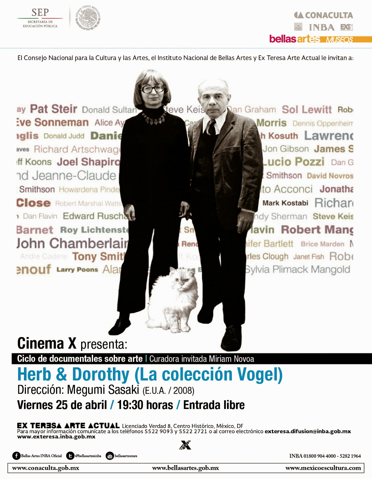 Función de cine experimental en el Ex Teresa Arte Actual