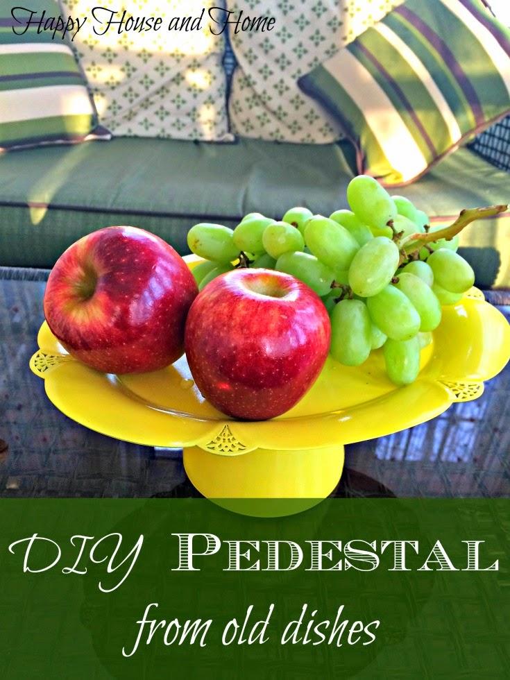 DIY pedestal tray, pedestal, silver trays