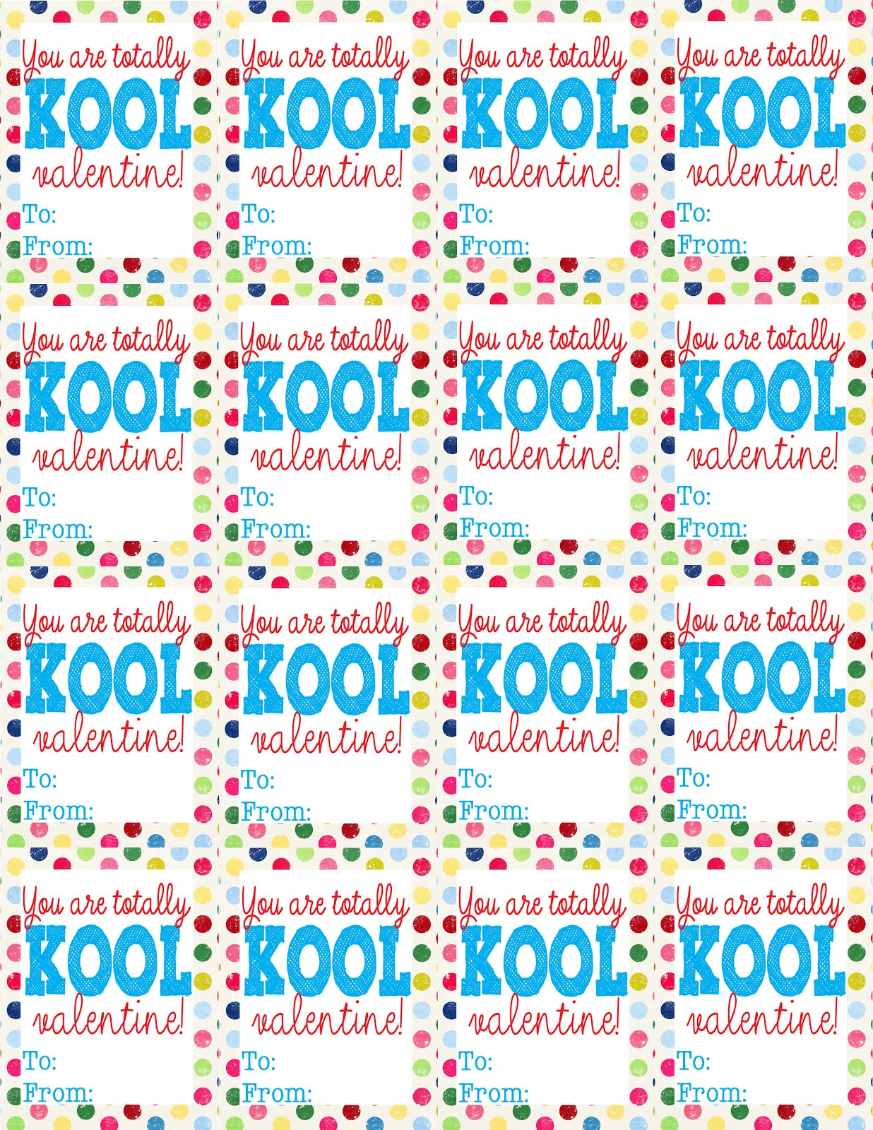 Pops and Podge: {Totally Kool} Printable