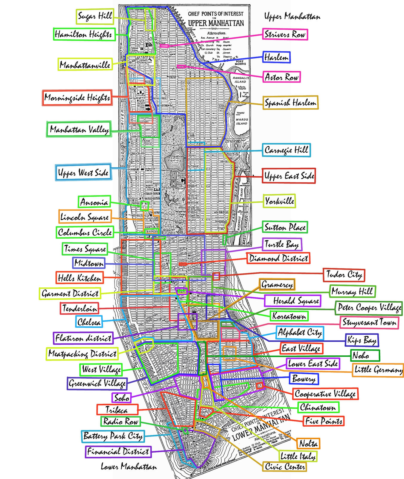 Map of manhattan for Things to do today in manhattan