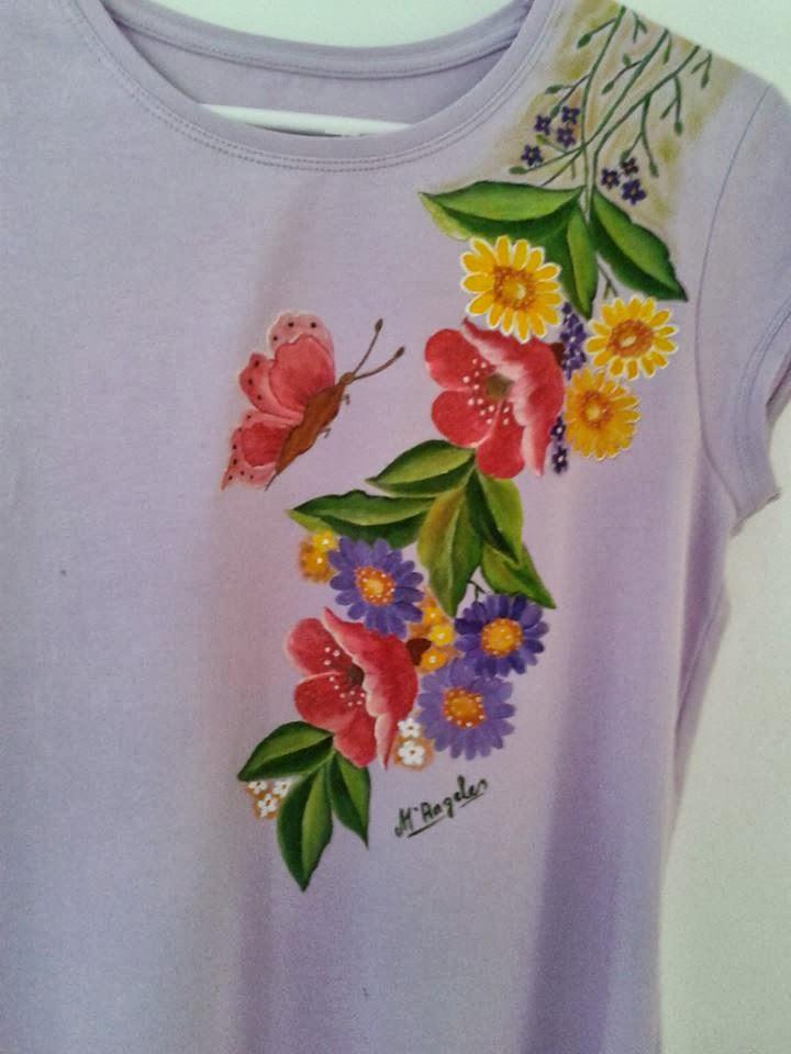 Pintura en tela camiseta - Pinturas para pintar camisetas ...