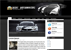 Best Automotive Blogger Template