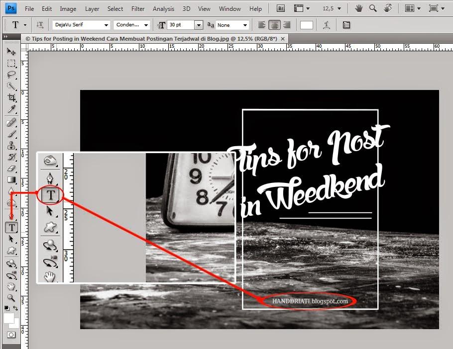 Cara Membuat Watermark Untuk Photo Memakai Adobe Photoshop_Text Watermark