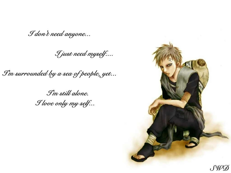 Welcome To Typical Collection Gaara Wallpapers Amazing Gaara Quotes Loneliness