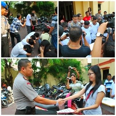Pengungkapan Pencurian kendaraan bermotor di Jl. Jamblang 1 no.9C Rt 003/02 Kel. Duri Selatan Kec. Tambora Jakarta Barat