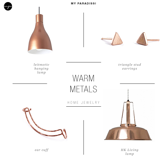 Ceiling  light jewels for the home | Warm metals