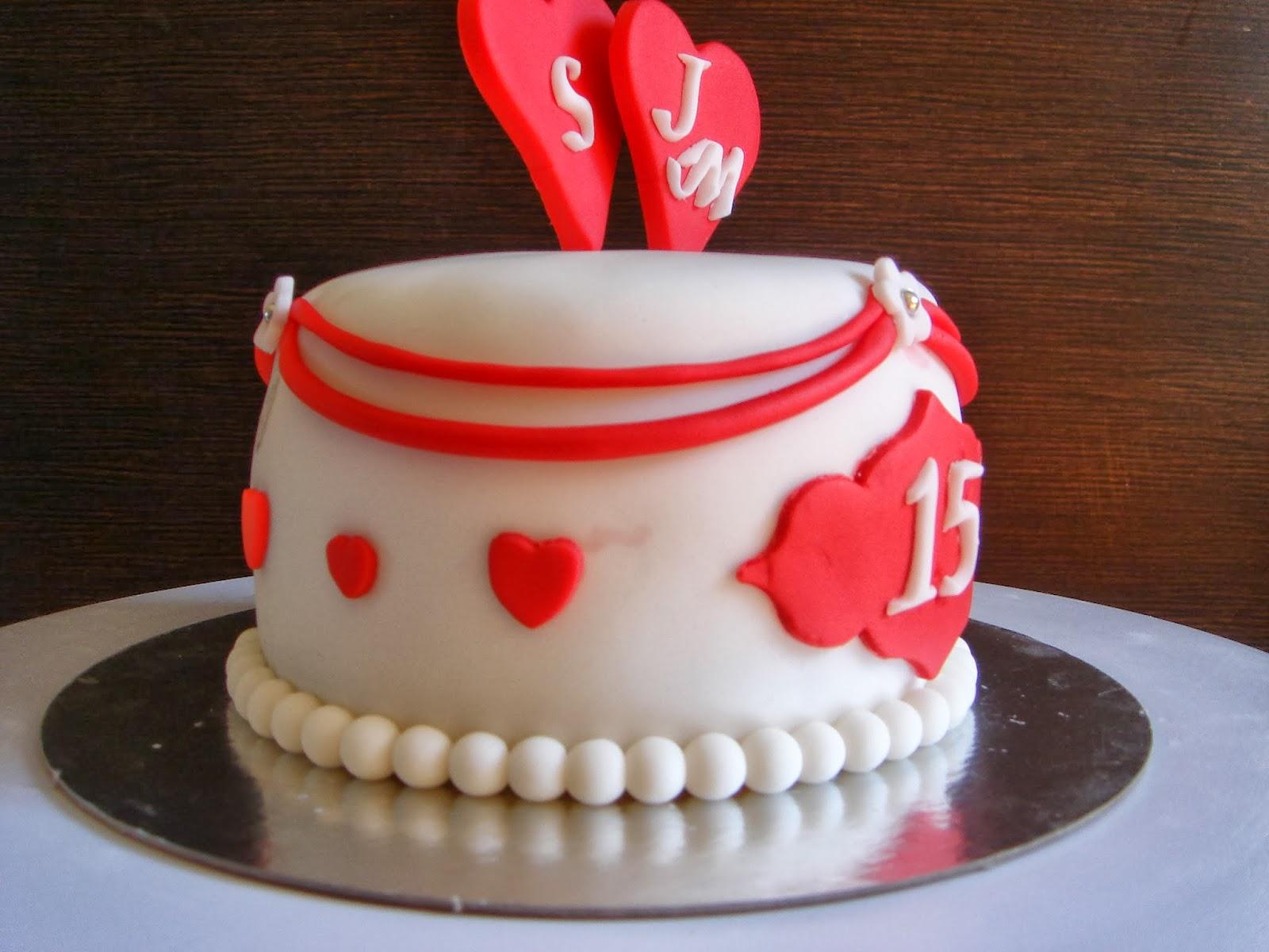tarta fondant aniversario