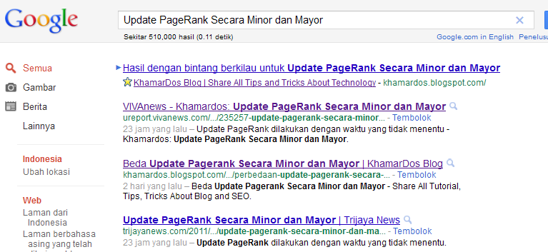 Update Pagerank Secara Minor dan Mayor | Khamardos BLog