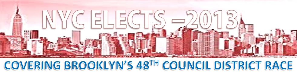 NYC ELECTS 2013 - BROOKLYN COUNCIL DISTRICT 48