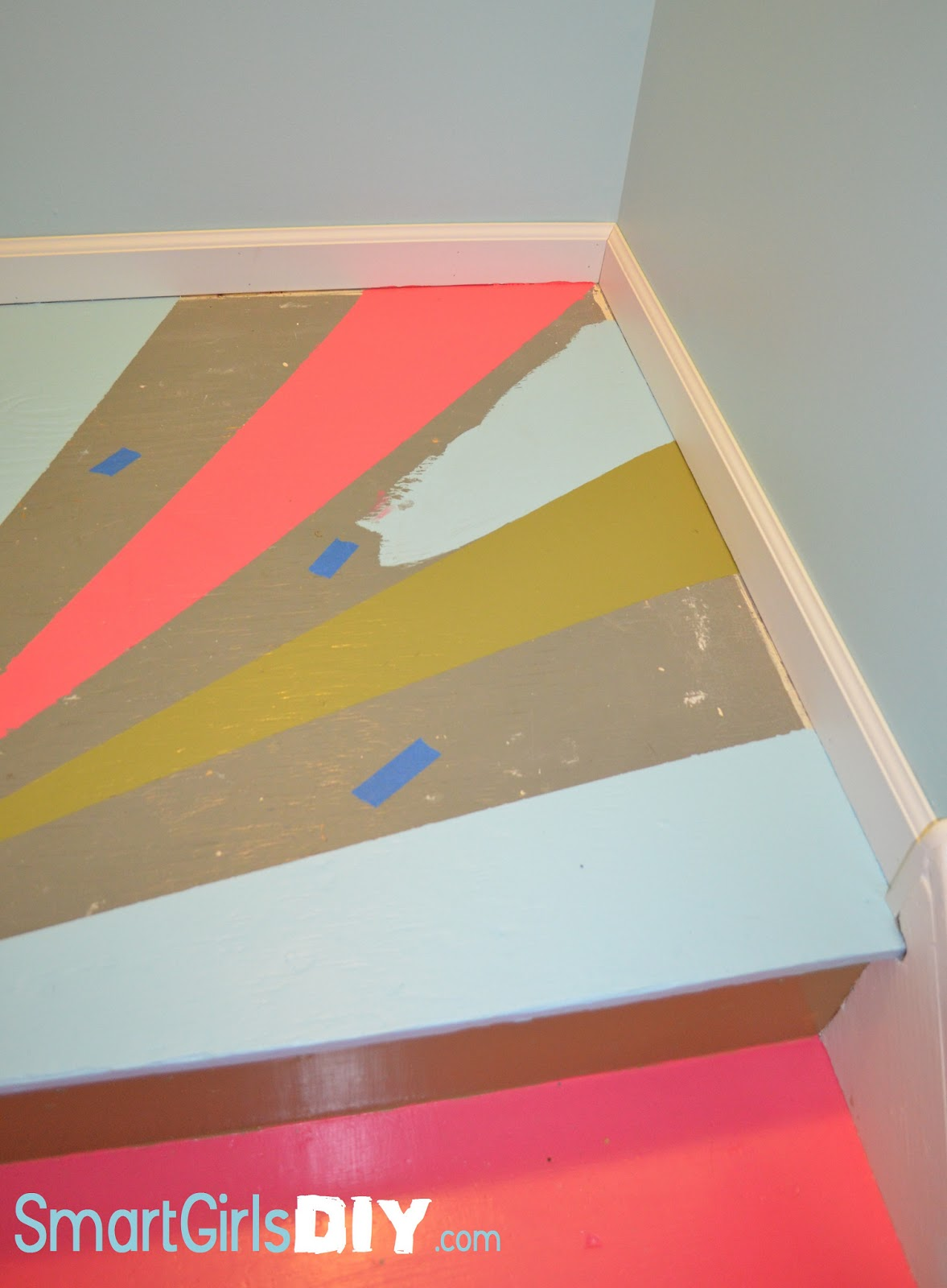 Awesome Painted Basement Stairs Tutorial Awesome Painted Basement Stairs  Tutorial