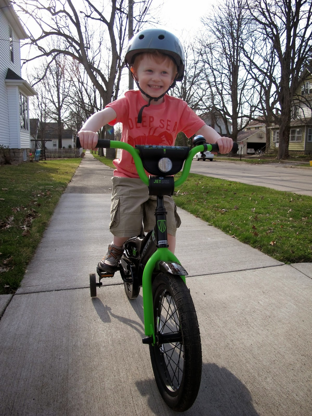 Porter on His New Bike