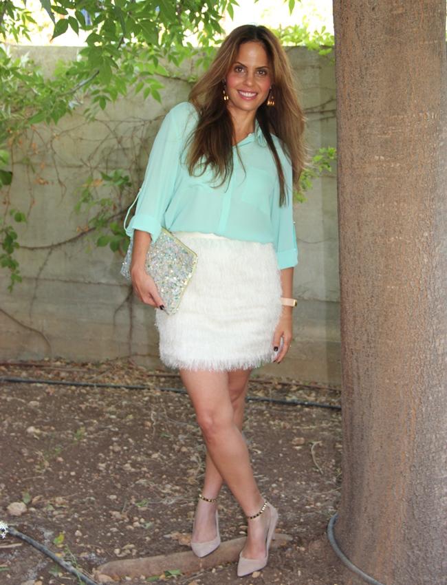 בלוג אופנה Vered'Style טרנד / חצאית פרווה