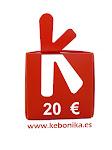 Kebonika premia tus donaciones con el sorteo de un vale trimestral de 20 euros!