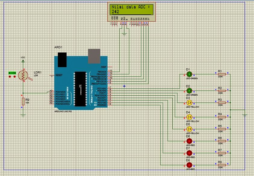 Microcontroller projects simple project proteus with