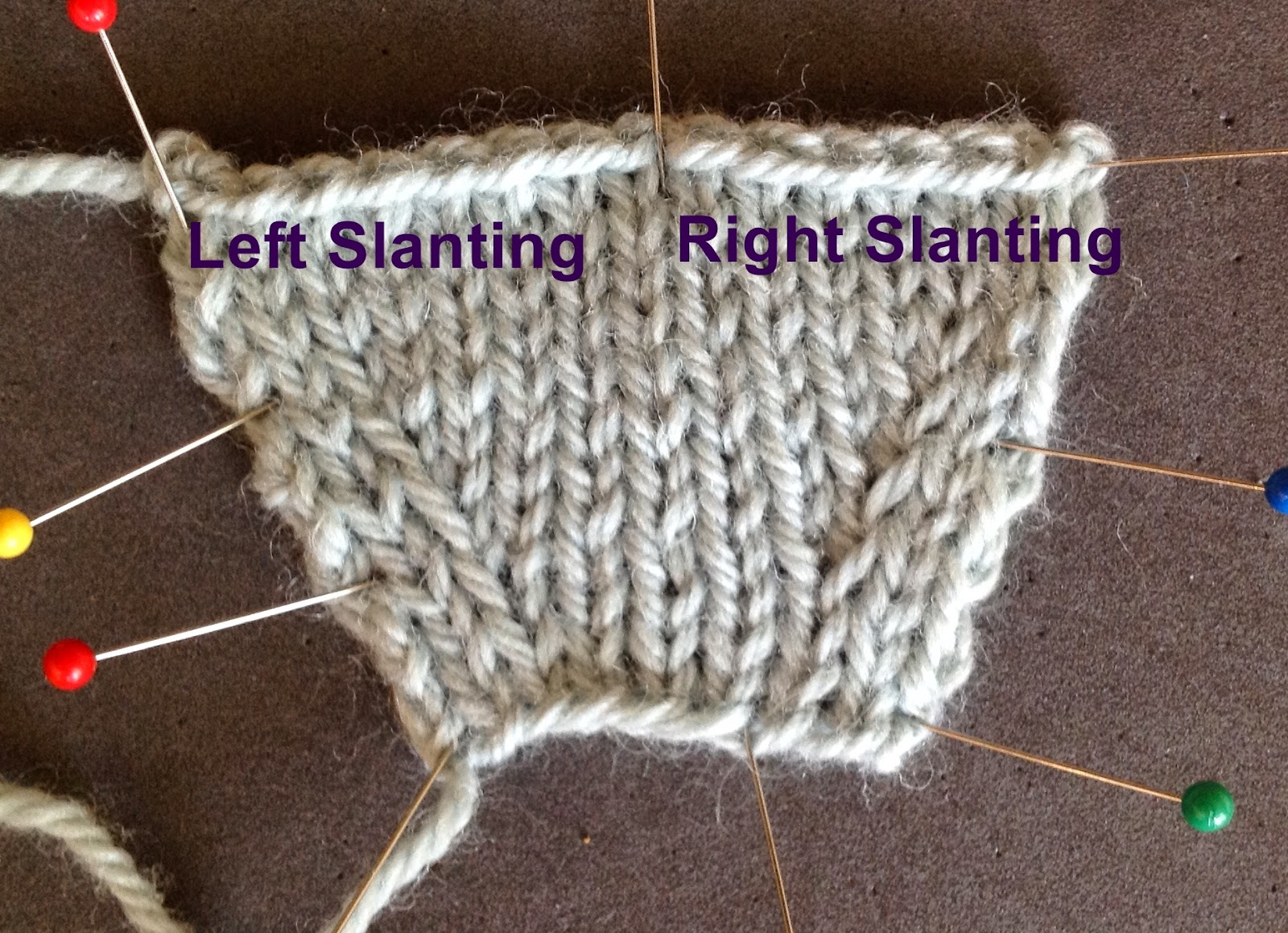 Knitting Increases Left And Right : Arenda holladay right and left slanting lifted increases