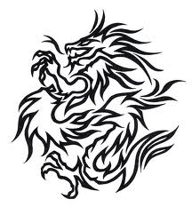 Motif Tato Naga Hitam Putih 7