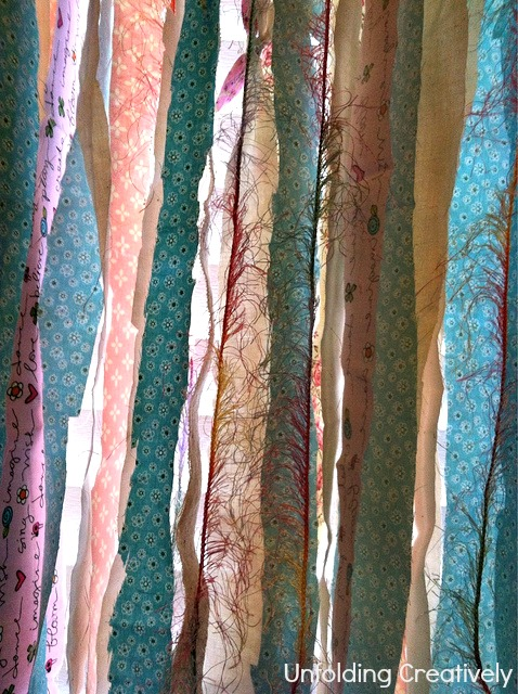 Unfolding creatively diy shabby chic knotted fabric valance