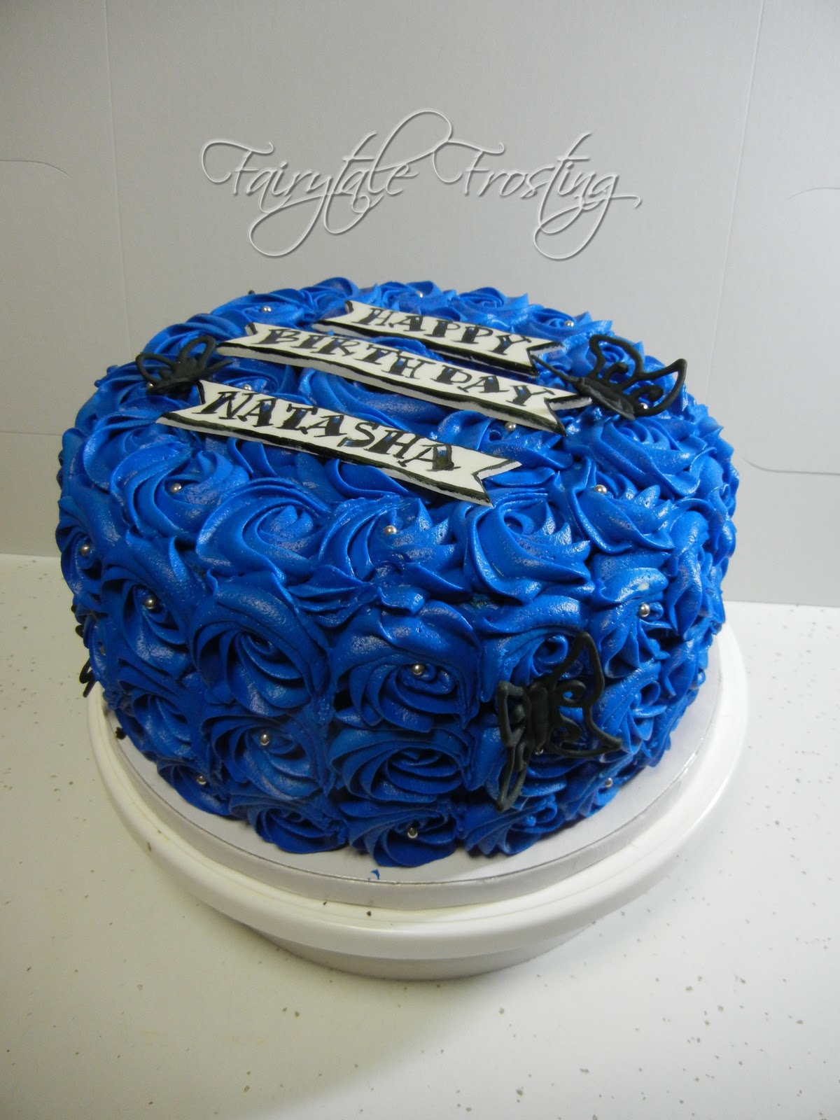 Fairytale Frosting Blue Rose Cake
