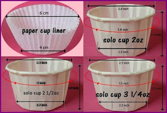 Cup Cakes Size