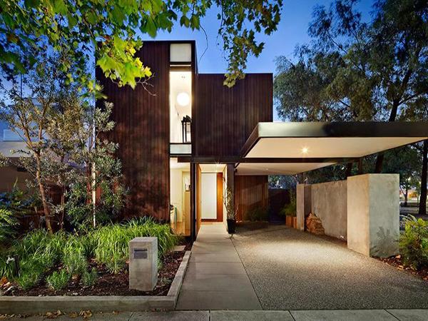 rumah mewah minimalis perpaduan alam dan modern gambar