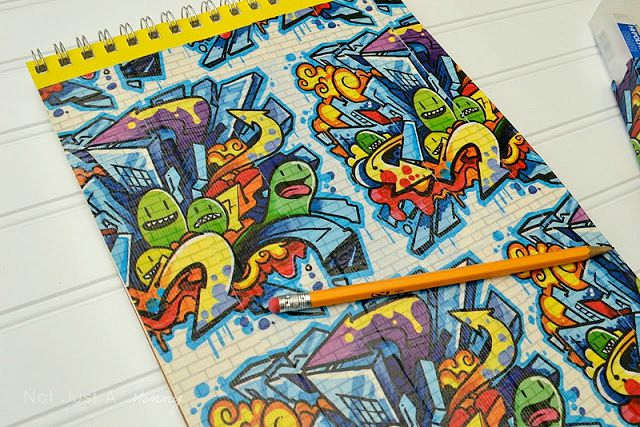 Back To School Crafting with Duck Tape sketchbook