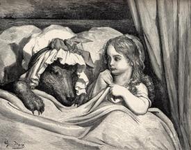 Картинка из сказки красная шапочка