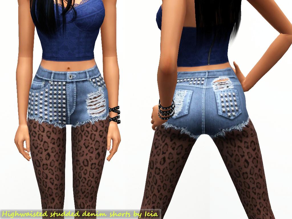 highwaisted studded shorts icia designs