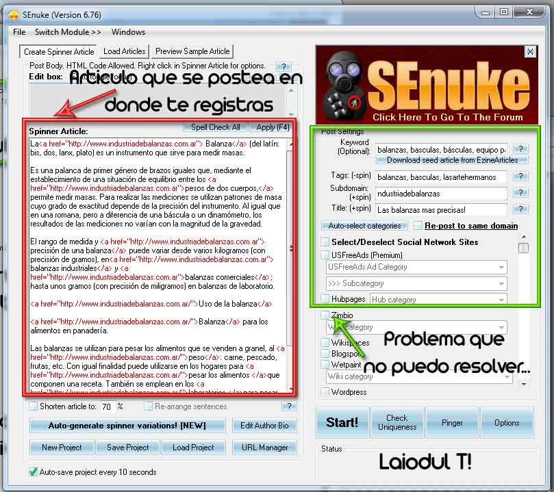 SeNuke Programa para Robot de publicidad SEO [V.6.76]