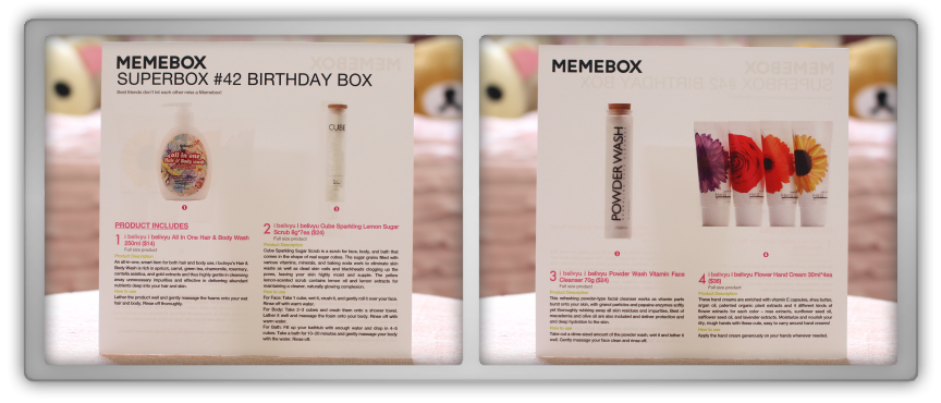 겟잇뷰티박스 by 미미박스 memebox beautybox # 42 superbox Birthday box unboxing review preview card paper text info