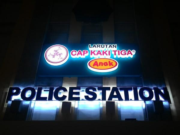 Aksi Polisi Cilik di Larutan Cap Kaki Tiga Anak Police Station KidZania