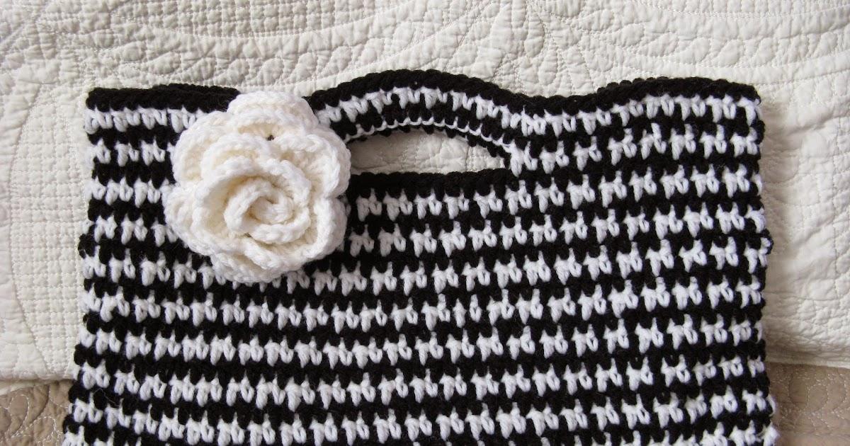 Cranberry Tea Time: Busy Hands: Crochet Walker Bag