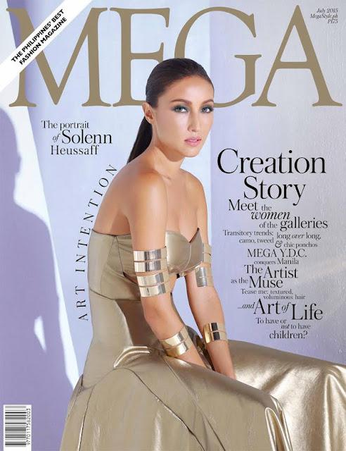 Solenn Heussaff MEGA Magazine July 2015 Cover