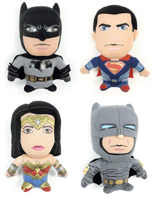 Batman v Superman: Dawn of Justice Super Deformed Plush Figures by Comic Images - Batman, Superman, Wonder Woman & Armored Batman