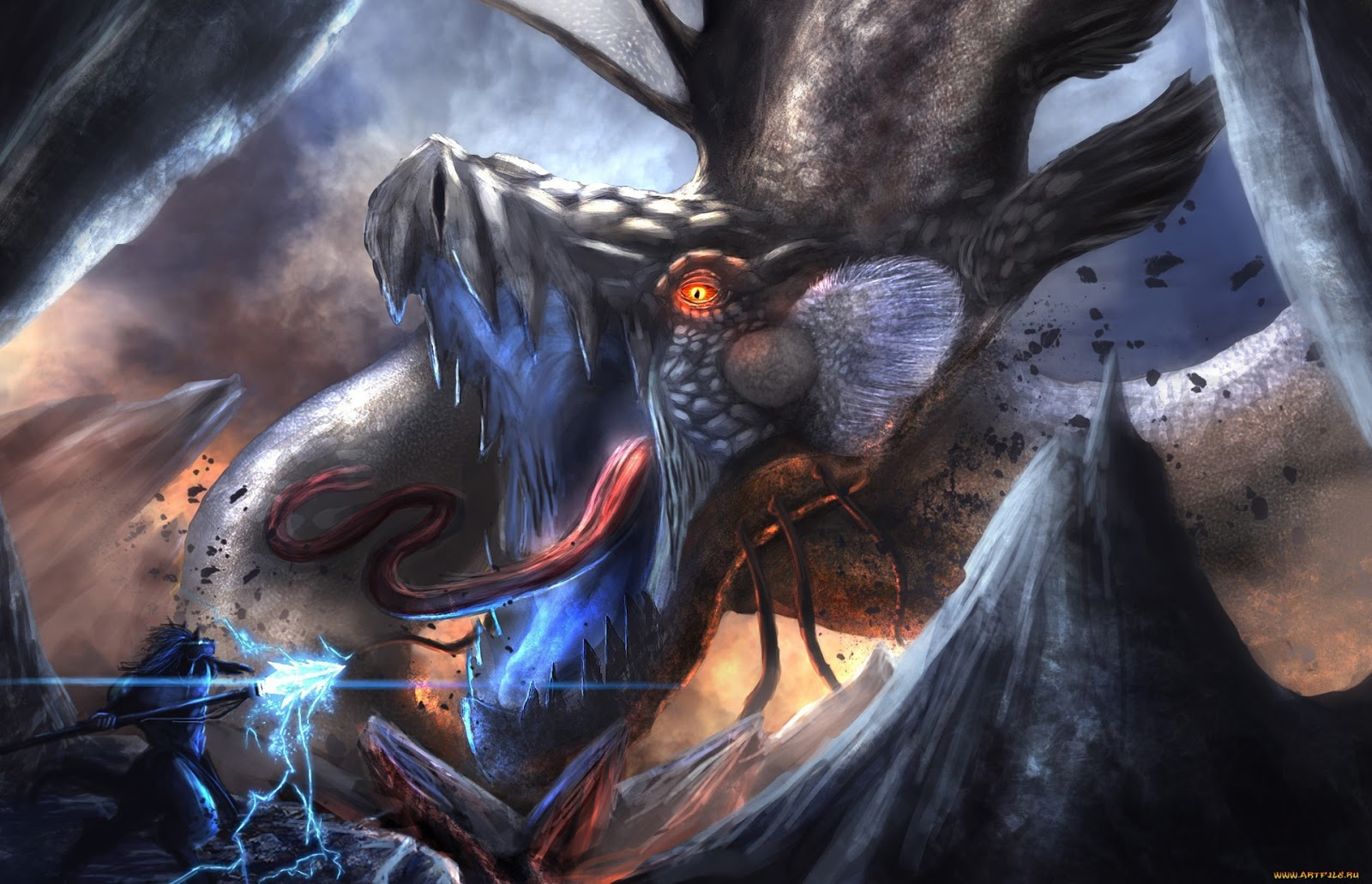 Fantasy Dragon Beast 2060 HD Wallpaper