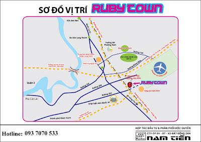 Vị trí đất nền Ruby Town