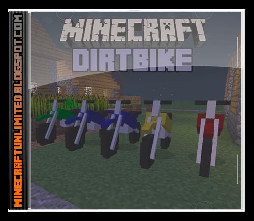 Dirtbike mod minecraft carátula