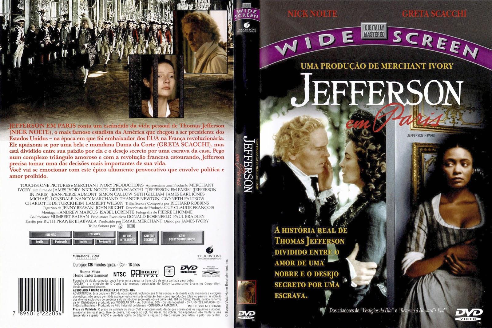 Capa DVD Jefferson Em Paris