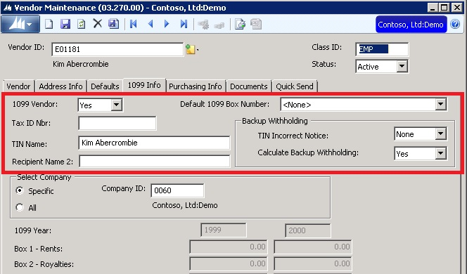 1099 Vendor Backup Withholdings In Sl 2015 Features