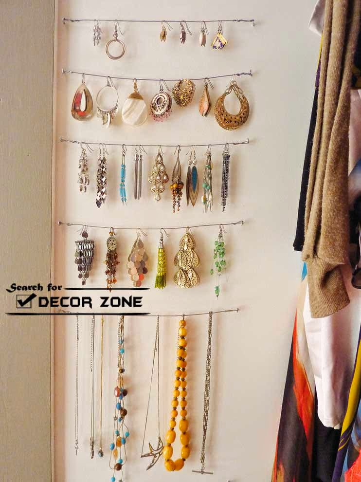 20 original jewelry storage suggestions and options for Jewelry organizer ideas