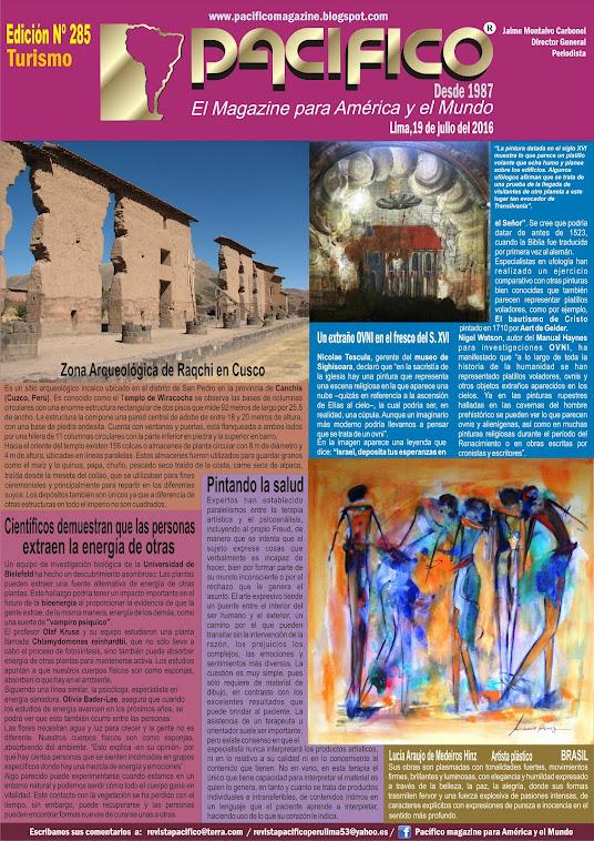 Revista Pacifico Nº 285 Turismo