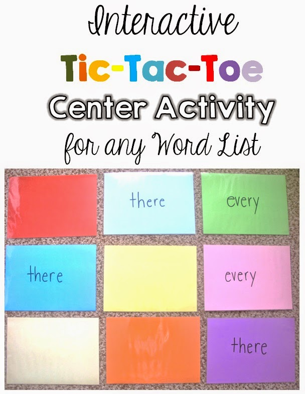 Interactive Tic-Tac-Toe Center for any Word List