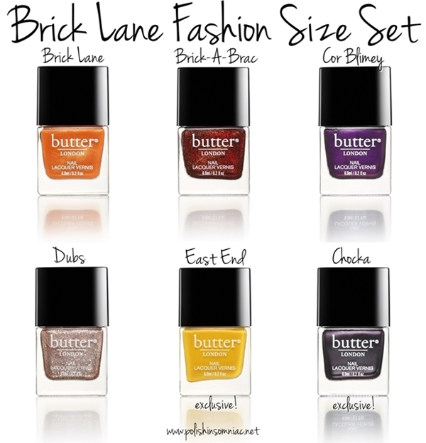 butter LONDON Brick Lane Fashion Size Set - includes two exclusive lacquers, East End and Chocka