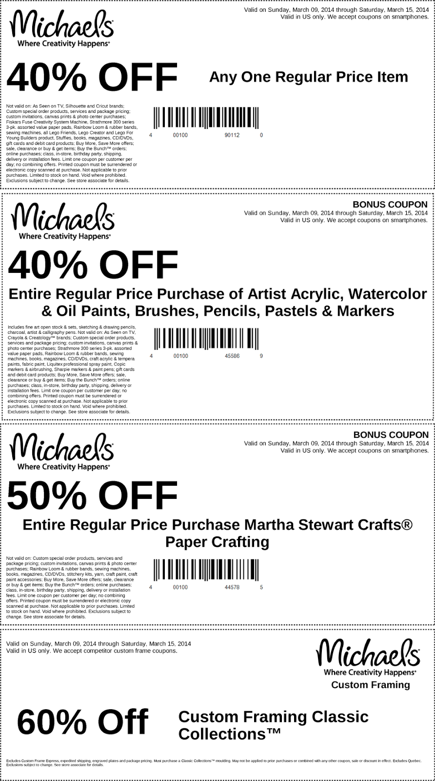 michaels weekly ad coupons - Michaels Framing Coupon