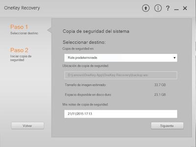OneKey Recovery ruta