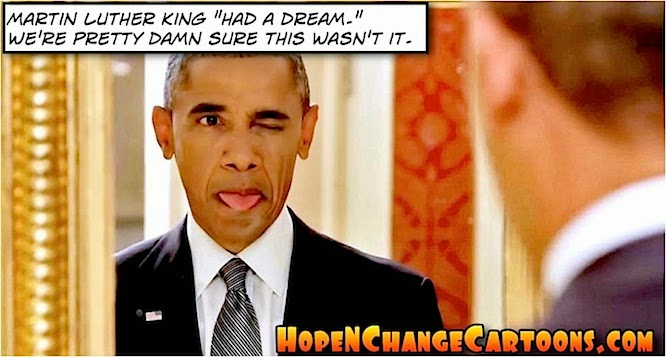 obama, obama jokes, political, humor, cartoon, conservative, hope n' change, hope and change, stilton jarlsberg, selma, bloody sunday, civil rights, racism