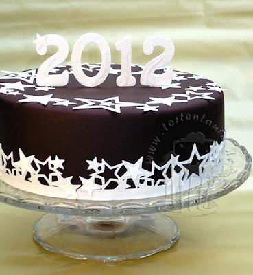 silvester torte new year cake mit Schokoladenfondant