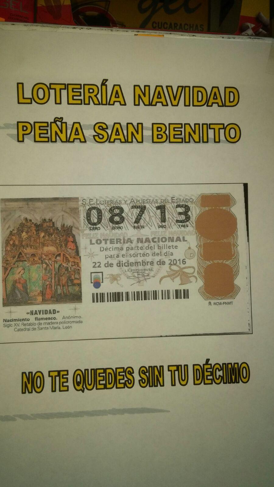 Loteria navidad de la Peña