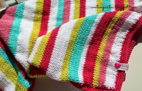 manta de bebé às riscas - linha de algodão
