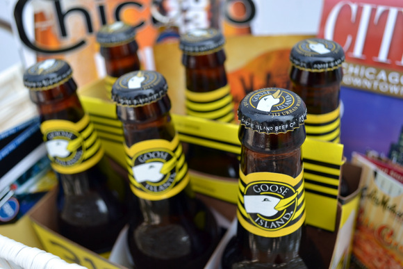 A six pack of Goose Island 312 beer reminiscent of Chicago's area code is a great item to add.