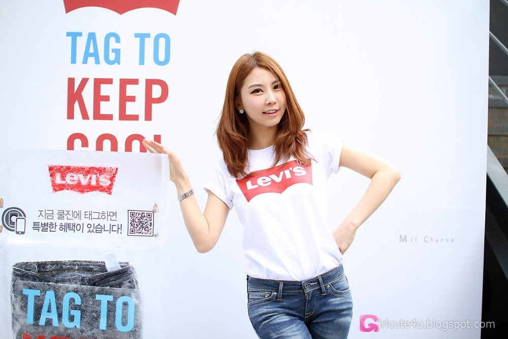 3 Lee Eun Yu - Levi's Promo - very cute asian girl-girlcute4u.blogspot.com